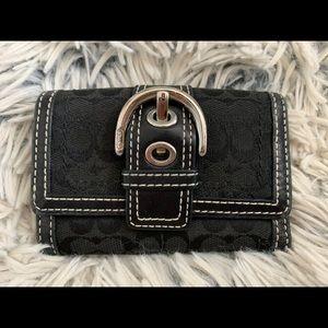 Black Monogram Coach Wallet